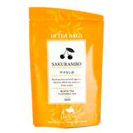 Lupicia Sakurambo Black Tea Japanese Cherry Flavored 10 Tea Bags