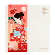 Lupicia Momoko Green Tea Peach and Sweet Vanilla Flavored 10 Tea Bags