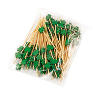 "4.72"" Decorative Picks for Appetizers and Cocktails Green Leaf (100/pack)"