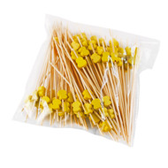 "15% Off with code MTCBARWARE15 - Decorative Picks for Appetizers and Cocktails Yellow Hyotan 4.72"" (100/pack)"