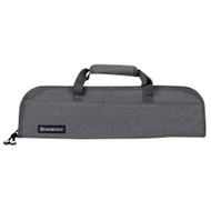 Messermeister Gray Denim 5 Pocket Padded Knife Roll Bag