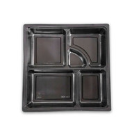 "Tsubaki Square Take Out Bento Box Inside Compartment 9.5"" x 9.25"" (50/pack)"