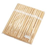 "9 1/2"" Disposable Square Tip Japanese Cypress Chopsticks Bundled (100 pairs/pack)"
