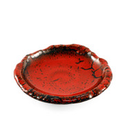"[NEW] Red x Black Appetizer Plate 4.2"" dia"