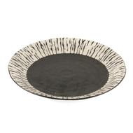 """[NEW] Black & White Dinner Plate 9.4"""" dia"""