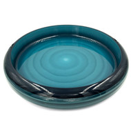 "Cobalt Marble Sushi Serving Tray 17.44"" dia"