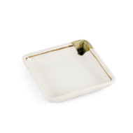 "[NEW] Shino White Square Side Plate with Brown Line 3.35"" x 3.35"""
