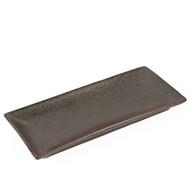 "[NEW] Black Speckled Rectangular Plate 12"" x 5.25"""
