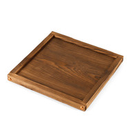 Rimmed Wooden Base for Tabletop Konro Grill