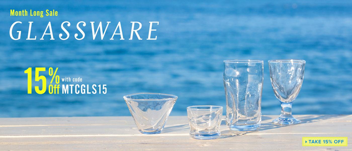 15% Off Glassware Sale