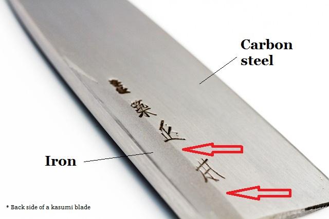 Japanese style knife Kasumi blade