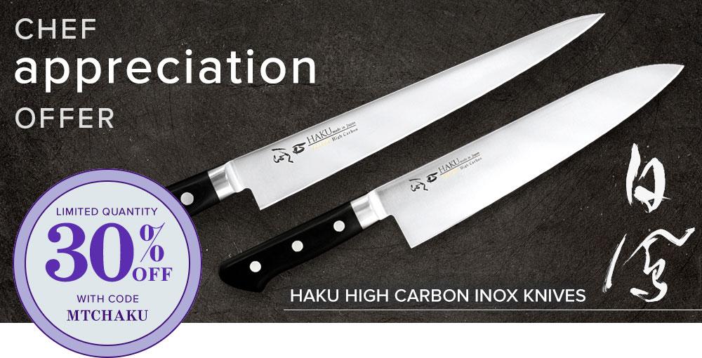 30% off Haku Japanese knives engineered by Nenox