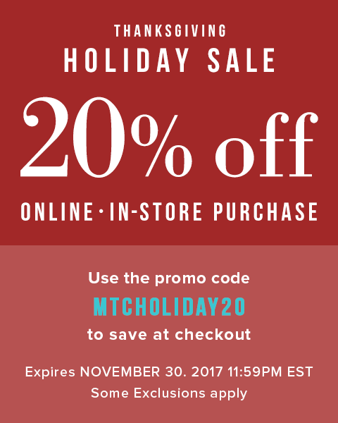 20% Off your purchase Holiday sale