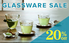20% Off Glassware Sale