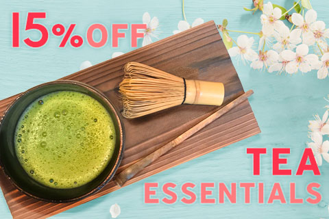 15% Off Teapots, Tea cups, Matcha and flavored tea