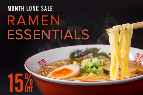 15% Off Ramen Essentials everything for cooking and serving ramen