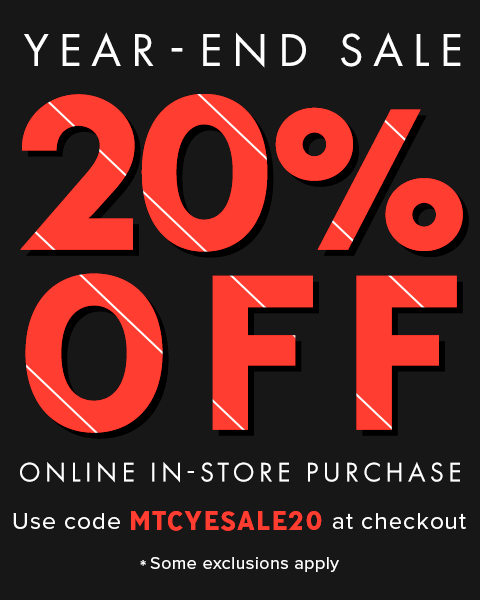 20% Off your purchase Year End sale