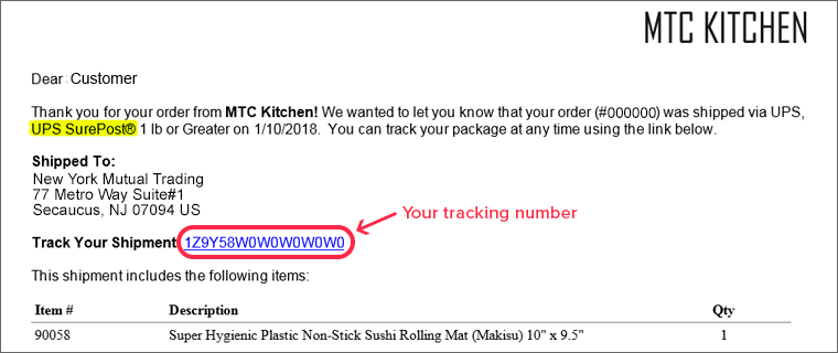 How to track your package