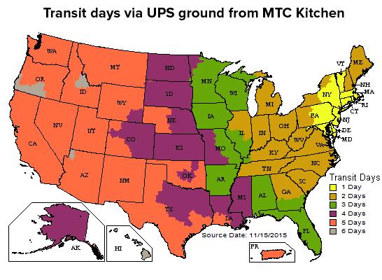 UPS Transit Days