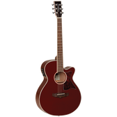 Tanglewood TW4WR Winterleaf Super Folk C/E Burgundy Red Gloss
