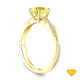 14K Yellow Gold Antique Scroll Engraving Engagement Ring Yellow Sapphire Top View