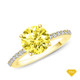 14K White Gold A Truly Vintage Hand Engraved Milgrain Engagement Setting Yellow Sapphire Finger View