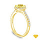 14K Yellow Gold An Intricate Antique Vintage Syle Diamond Engagement Ring Yellow Sapphire Top View