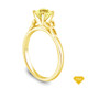 14K Yellow Gold Cascade Waves Style Engagement Ring Yellow Sapphire Top View