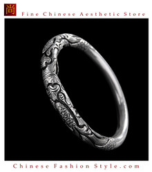 Fine 999 Cuff Bracelet High Purity Sterling Silver Jewelry 100% Handcrafted #121