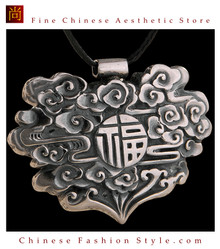 Fine 99 Pendant High Purity Sterling Silver Jewelry 100% Handcrafted Art #105