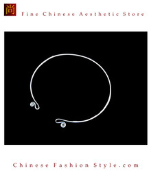 100% Handmade Miao Tribal Silver Pendant Chain Necklace for Women #106