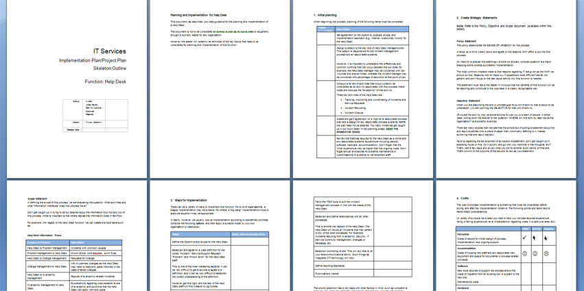 help desk procedures template the help desk toolkit