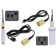 8 ft Power Cord w/ Mogul Base Socket