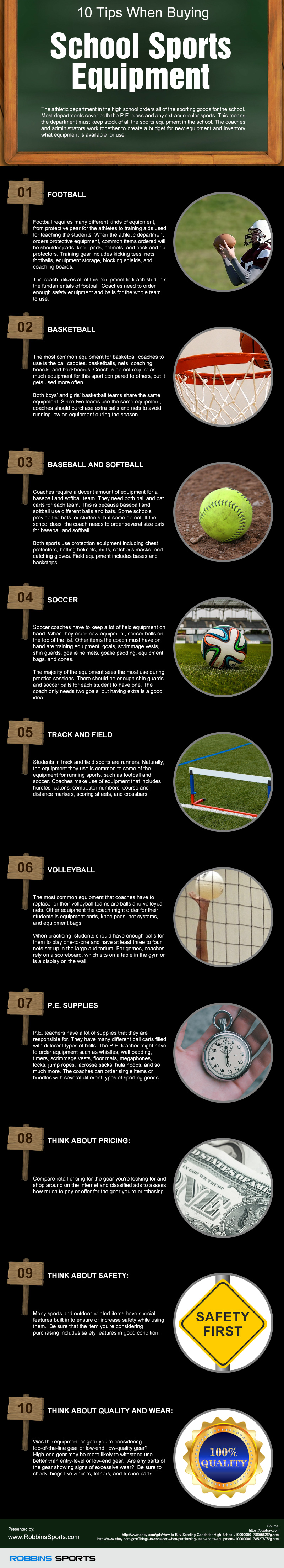 10 Tips When Buying School Sports Equipment [infographic ...
