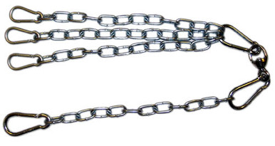 Chain and Swivel Assembly with 3 Spring Snaps
