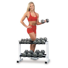 "Powerline Fitness 32"" Wide 2-Tier Dumbbell Rack"