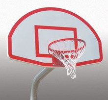 Spalding Aluminum Fan-Shaped Basketball Backboard With Target