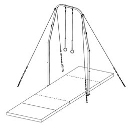 American Athletic FIG Competition Ring Landing Mat Configuration