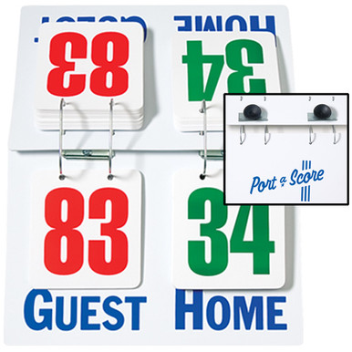 Tabletop Book-Style Flip Scoreboard - Volleyball, Basketball