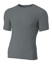 A4 N3130 Short Sleeve Compression Crew 83/17 Poly/Spandex