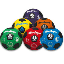 MacGregor Two-Tone Colored Rubber Soccer Balls - Prism Pack