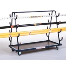 Stackhouse VEC Steel Vaulting Pole Cart/Volleyball Equip  Cart
