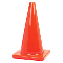 "Orange Traffic Cones Field Markers With Weighted Base - 12"" Cone"