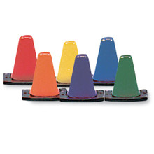 Color My Class 12-inch Game Cones - Set of 6 Marker Cones