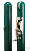 "Gared 3"" Round Competition Tennis Posts, Green"