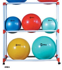 Champion Sports FPR1 PVC Aerobics Ball Storage Rack