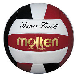Molten Black/Red/White Super Touch Volleyball