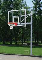"""Gared Sports PK6091: 5 9/16"""" Straight Basketball Post Package w/Glass Board"""