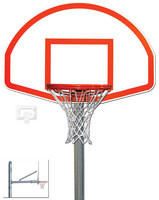 "Gared Sports PK4541: 4 1/2"" Basketball Post Package w/Aluminum Board"