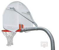 "Gared Sports PK3545: 3 1/2"" Package w/Rear-Mount Basketball Board"